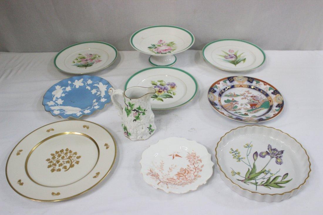 10pc 19th/20th century English porcelains