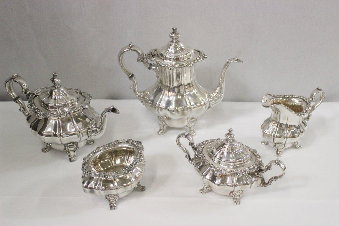 5pc Gorham silverplate tea and coffee set