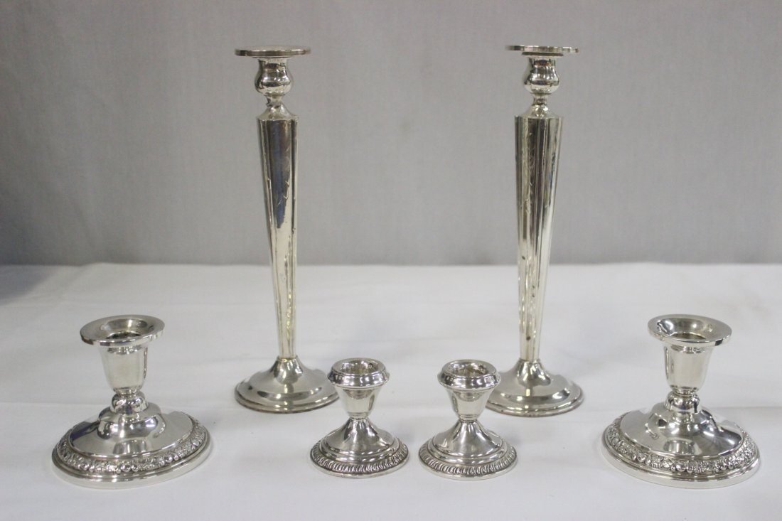 3 pairs weighted candle holders