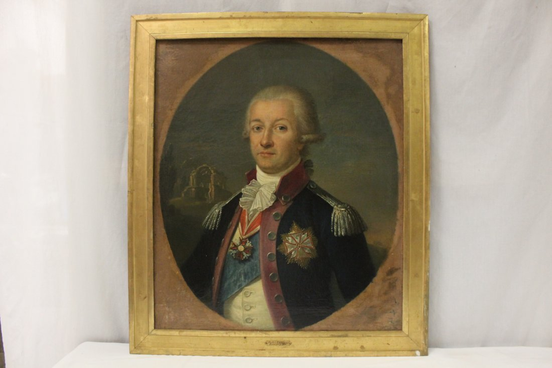 Oil on canvas, attributed to Pietro Labruzzi
