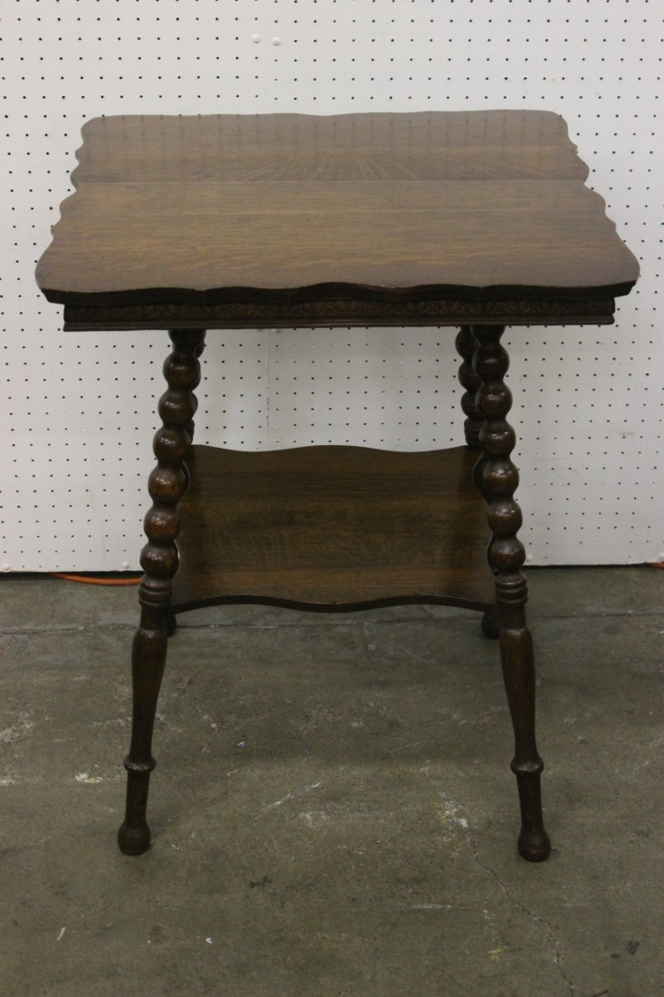 Victorian tiger oak parlor table