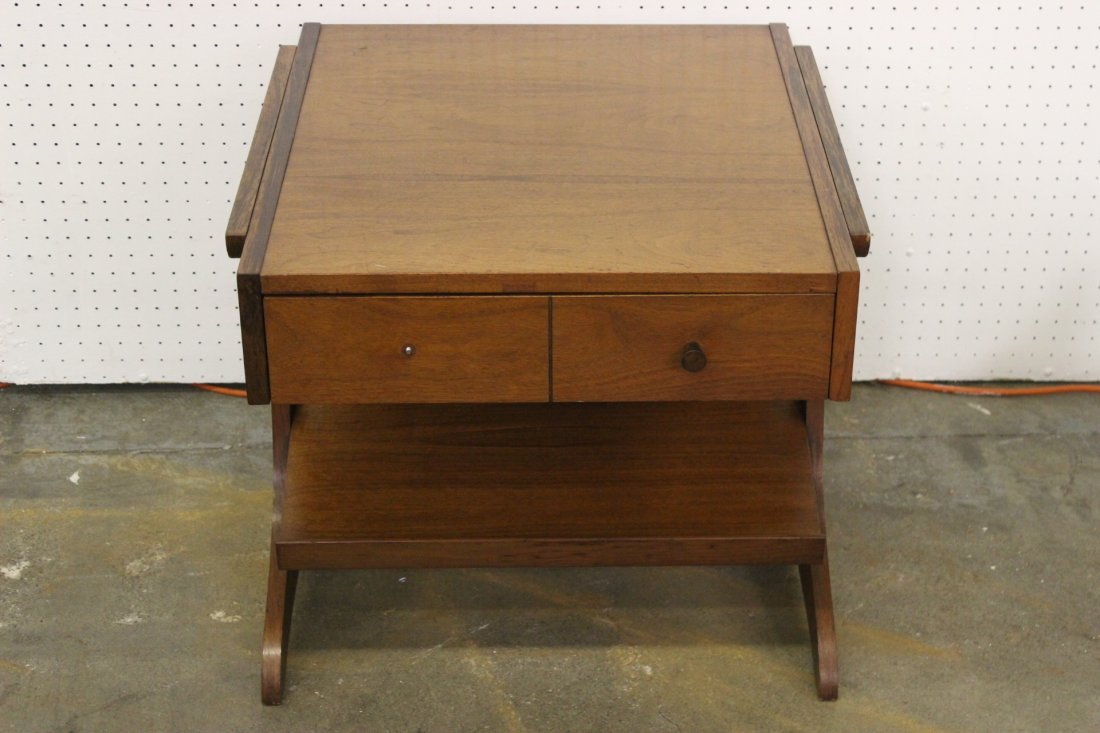 A mid-century teak wood end table by Kroehler