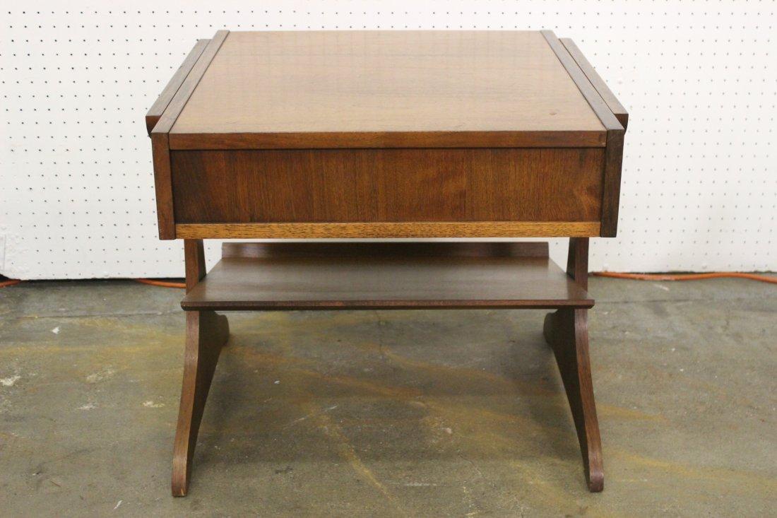 A mid-century teak wood end table by Kroehler - 5