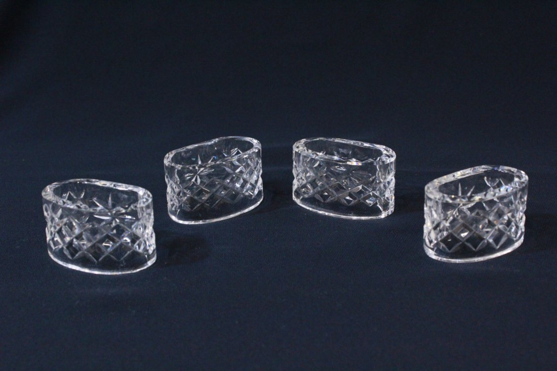 8 rare Waterford crystal napkin rings - 2