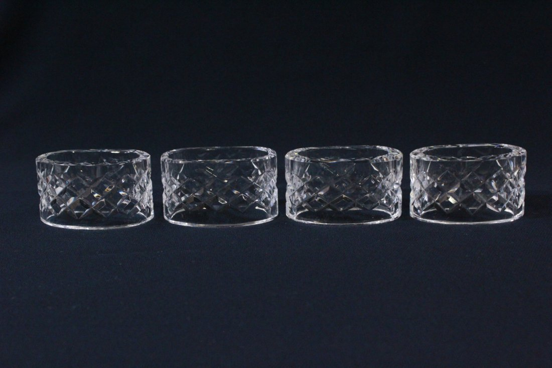 8 rare Waterford crystal napkin rings - 3