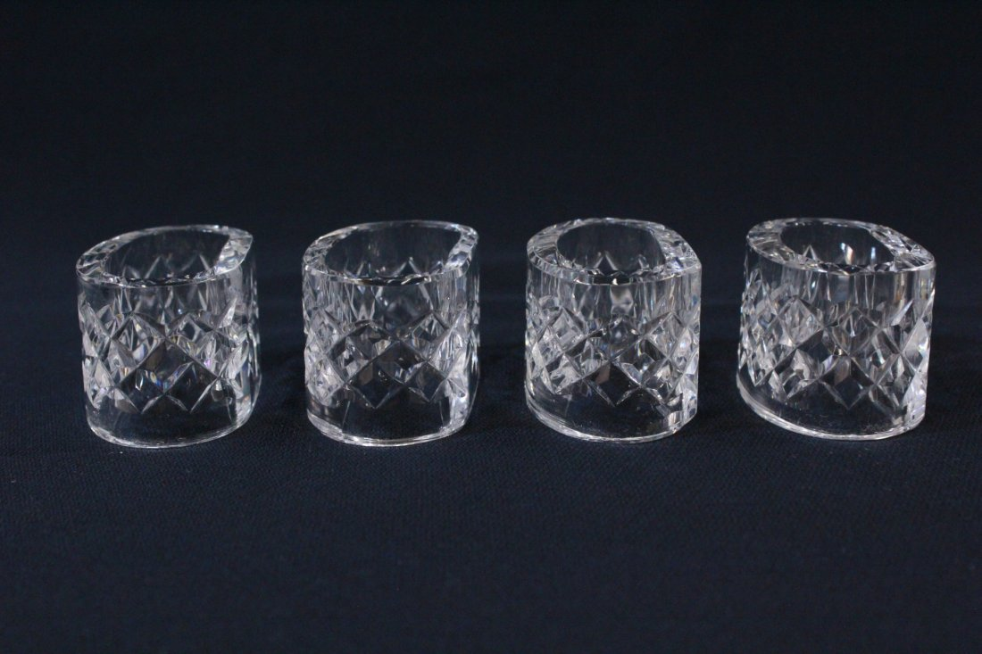 8 rare Waterford crystal napkin rings - 4