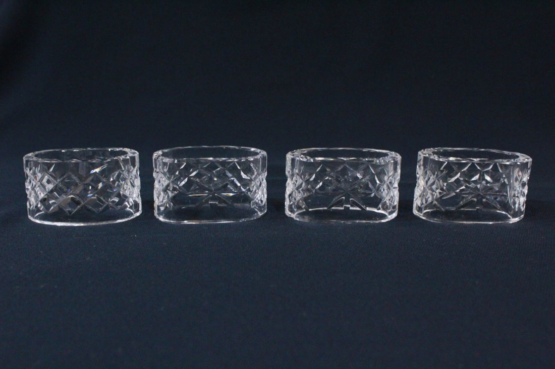 8 rare Waterford crystal napkin rings - 5