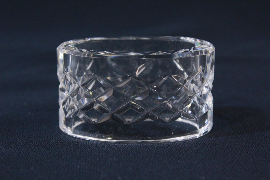 8 rare Waterford crystal napkin rings - 6