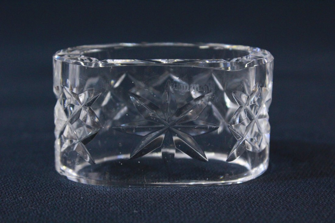 8 rare Waterford crystal napkin rings - 7