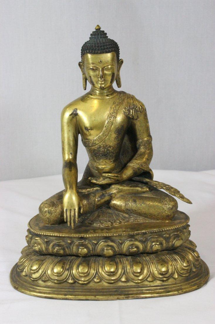 Chinese bronze Buddha, Ming Yongle mark