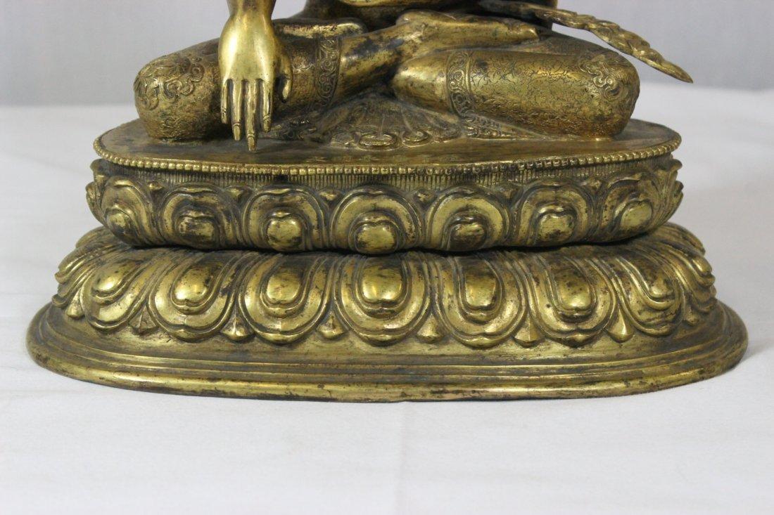 Chinese bronze Buddha, Ming Yongle mark - 2
