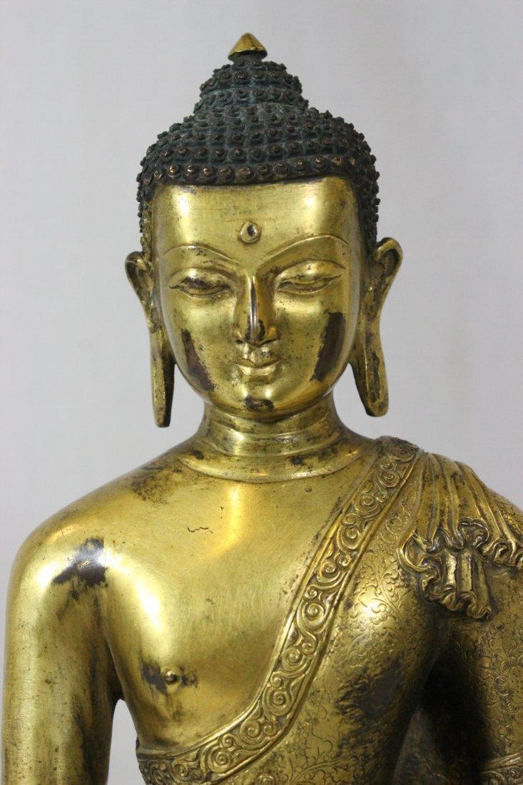 Chinese bronze Buddha, Ming Yongle mark - 3