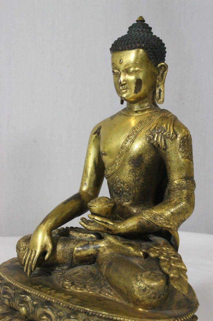 Chinese bronze Buddha, Ming Yongle mark - 5