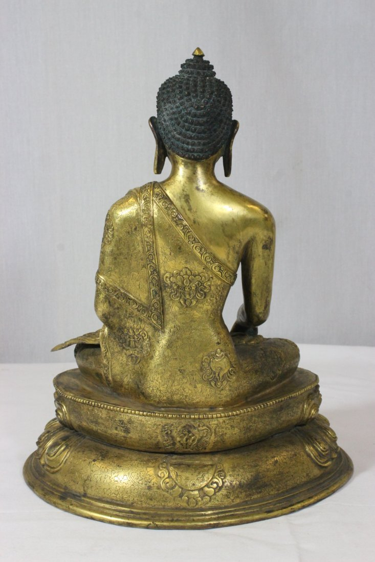 Chinese bronze Buddha, Ming Yongle mark - 6