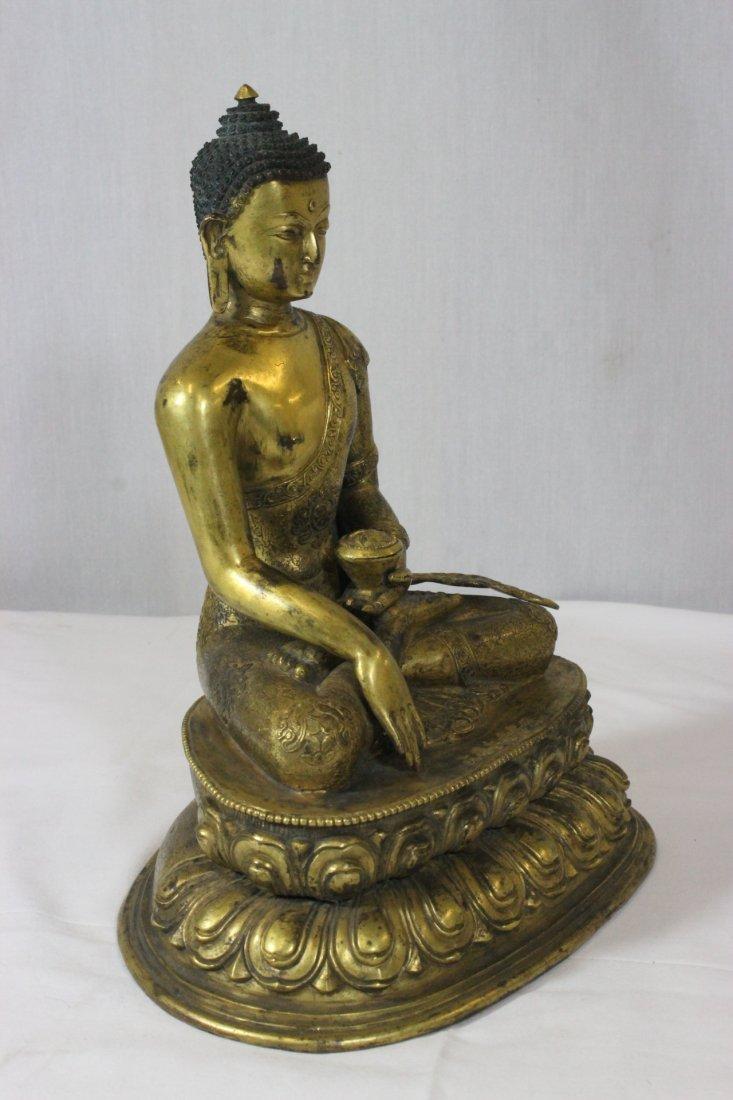 Chinese bronze Buddha, Ming Yongle mark - 7