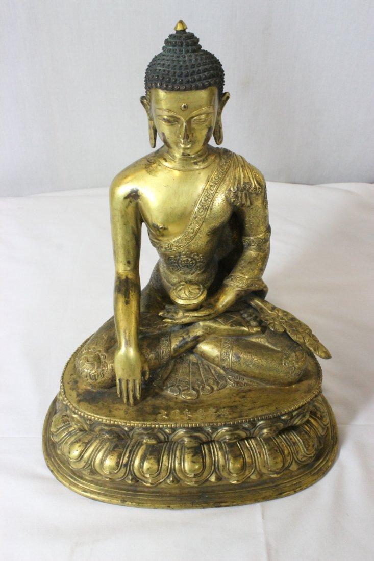 Chinese bronze Buddha, Ming Yongle mark - 8