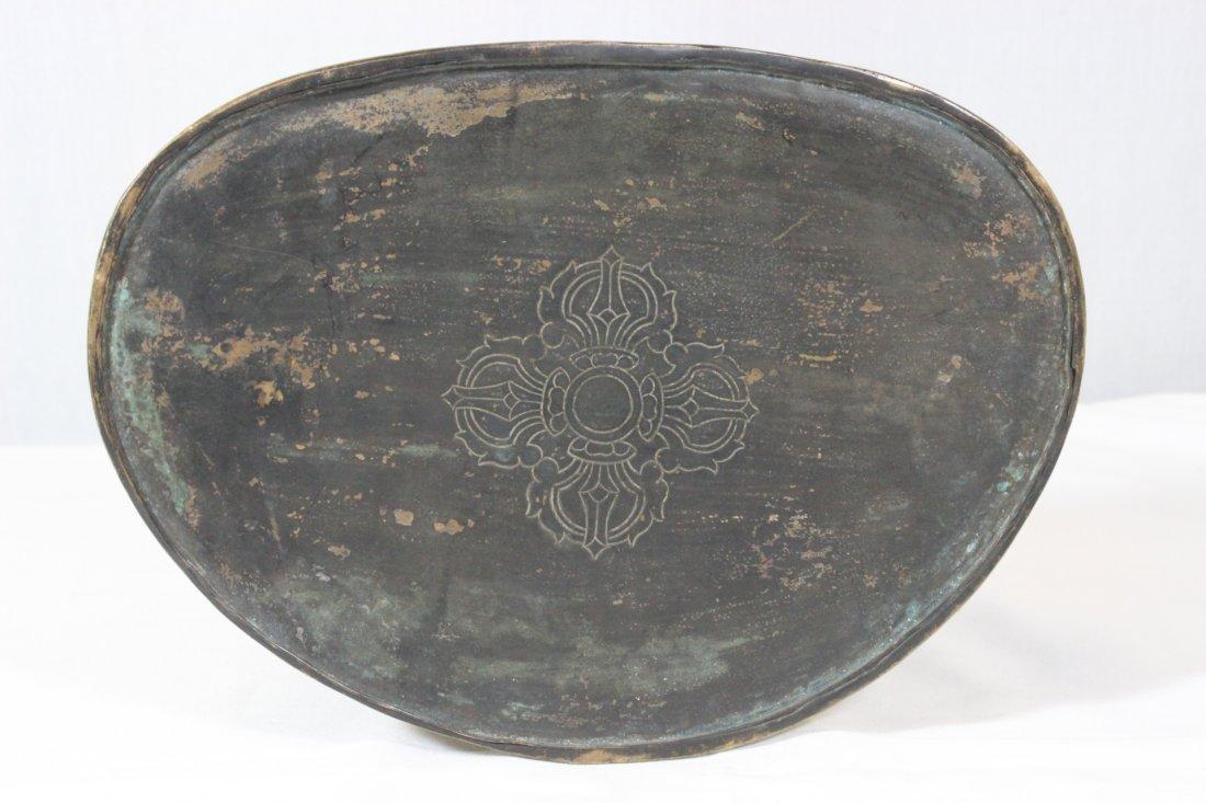Chinese bronze Buddha, Ming Yongle mark - 9