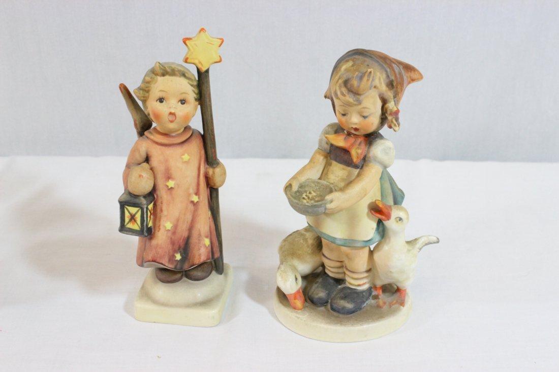 6 Hummel figures and a miniature Hummel clock - 2
