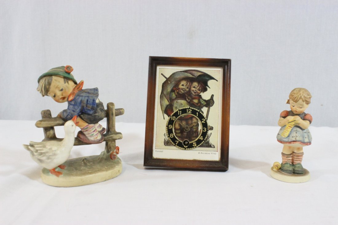 6 Hummel figures and a miniature Hummel clock - 7