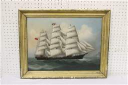 An important 19th c. China trade oil painting