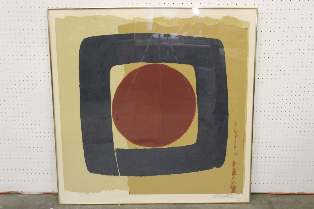 A large serigraphy by Max Hayslette, edition 81/200