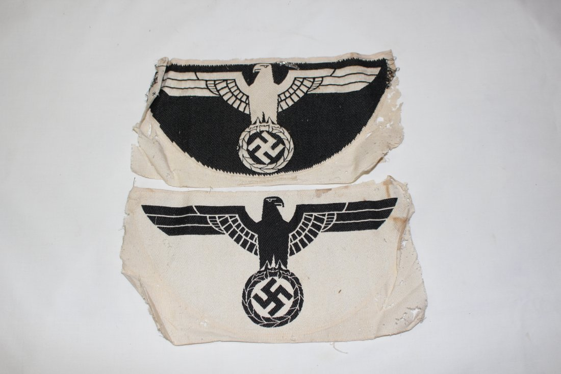 WWII German military hats & Nazi patches - 8