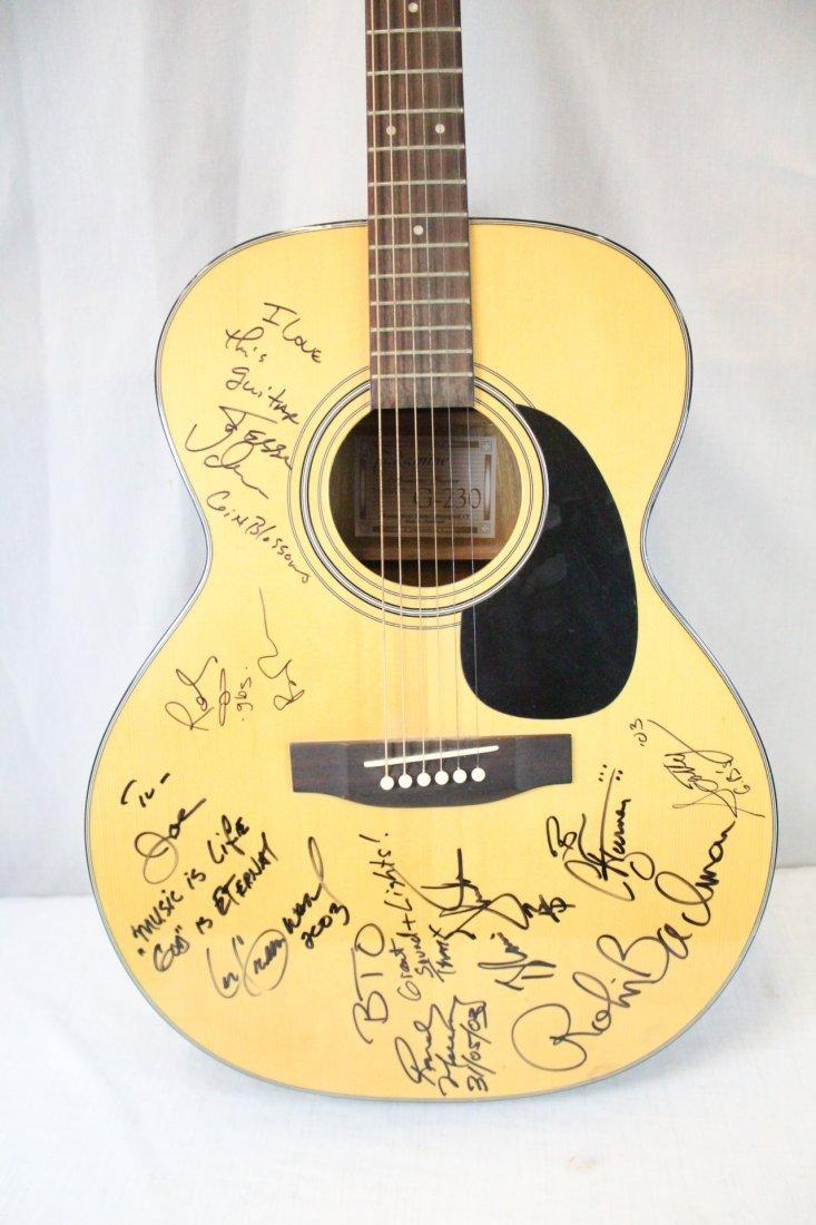 Autographed Takamine G-230 guitar - 4