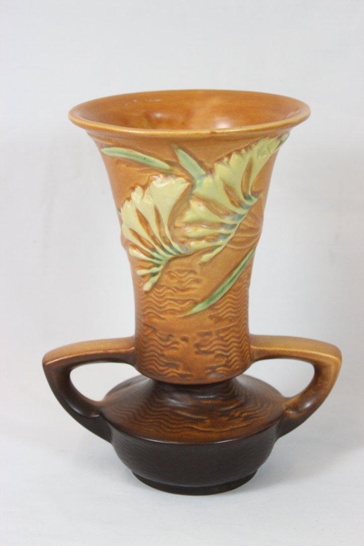 """Roseville """"Freesia"""" pottery vase"""