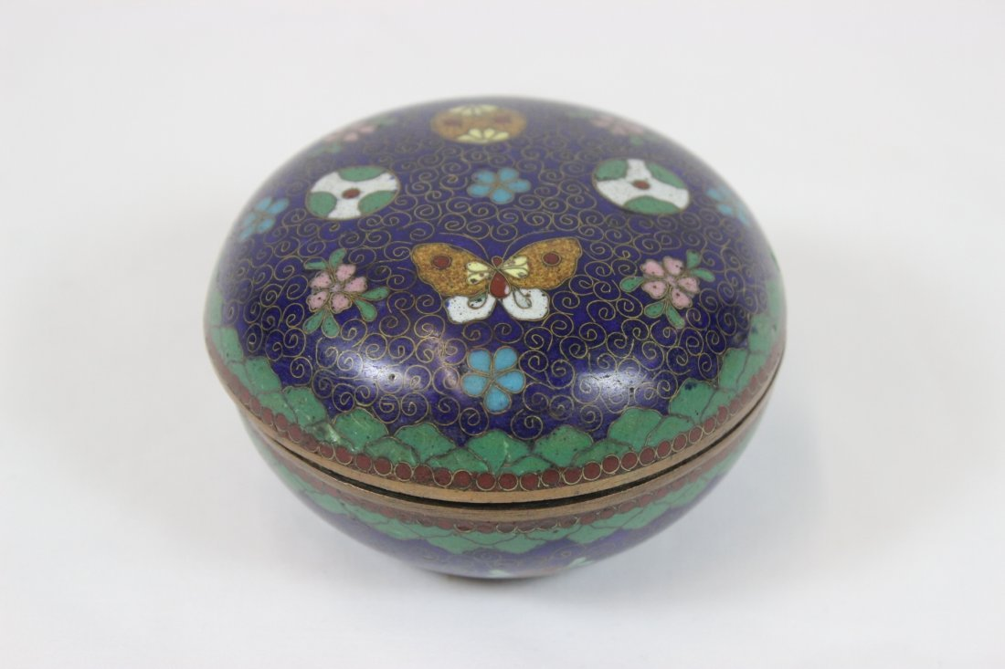 19th century Japanese cloisonne covered ink box