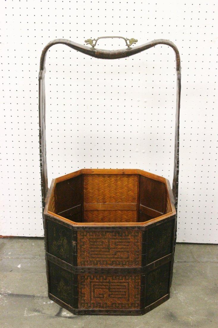 Chinese antique wedding basket