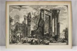 An early etching by Francesco Piranesi
