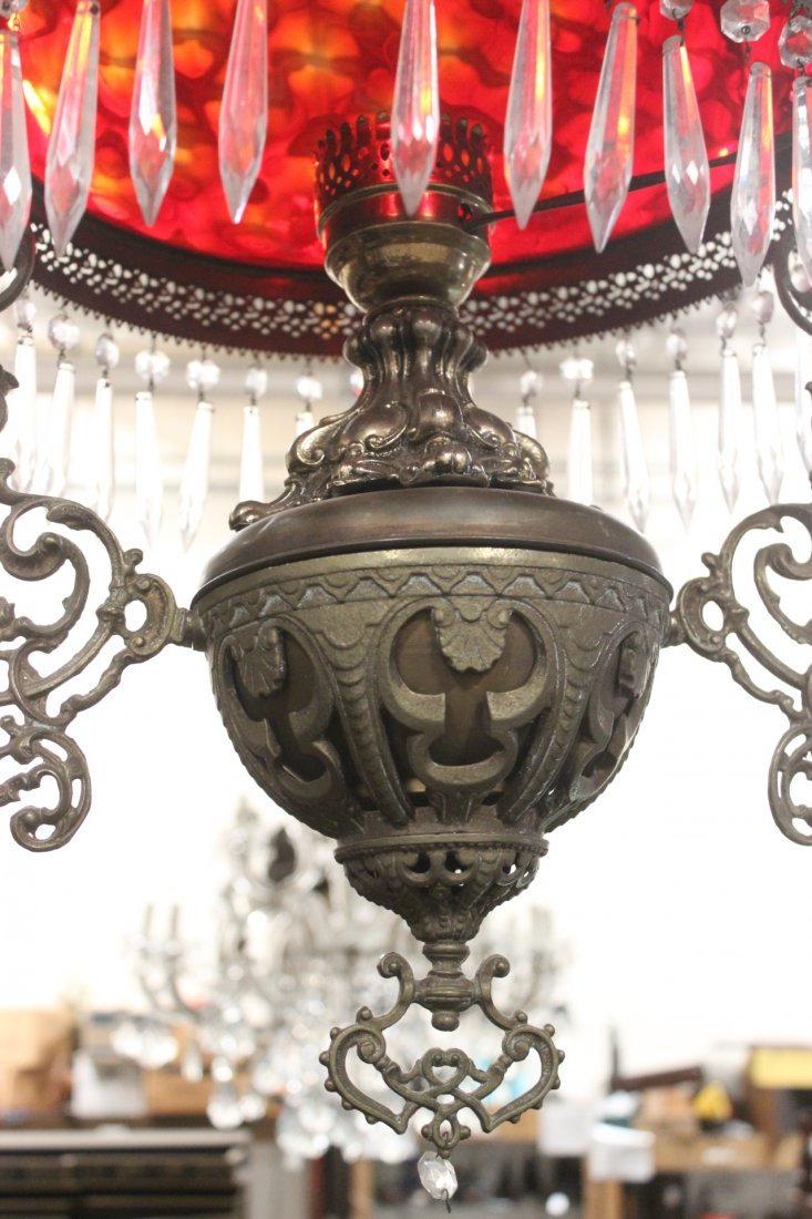 Victorian ceiling light with smoke catcher - 5