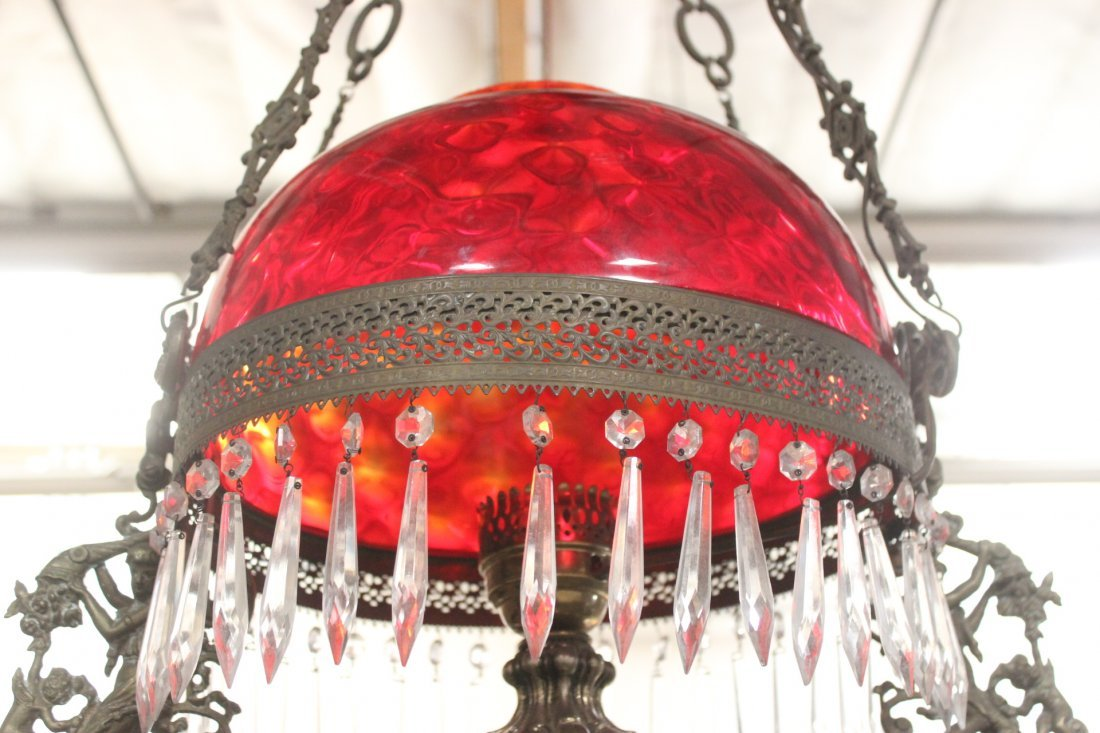 Victorian ceiling light with smoke catcher - 7
