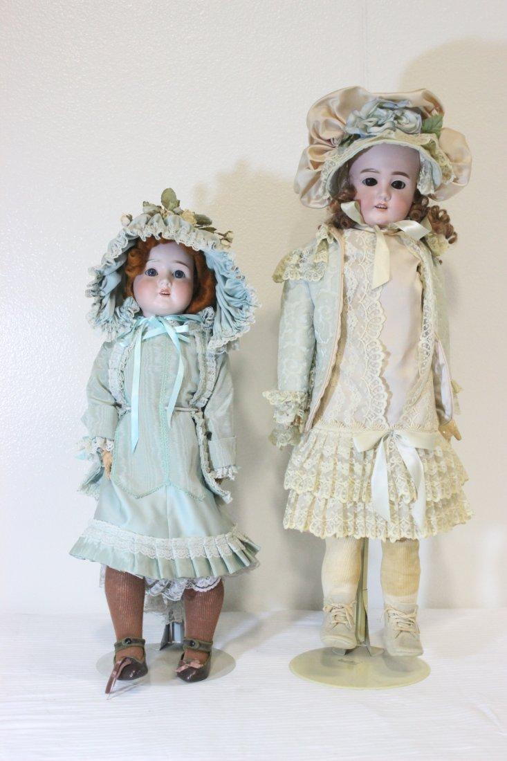 2 antique Germany bisque head dolls