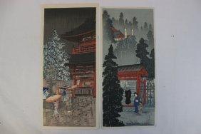 2 Japanese Woodblock Prints By Inari Atoji