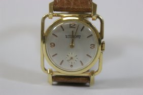 A Vintage Wittnauer Wrist Watch With Gf Case