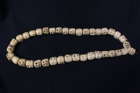 A Bone Carved Long Necklace