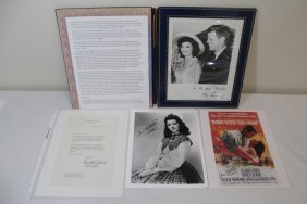Lot Of Ann Rutherford Singed Memorabilia