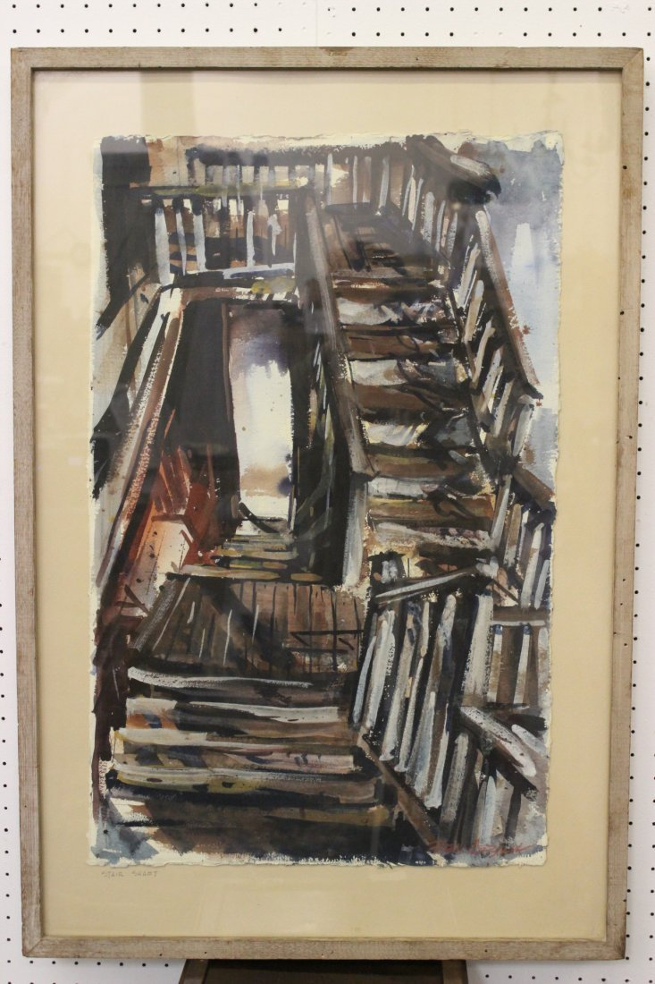"Watercolor ""stair shaft"" by Ben Abril"