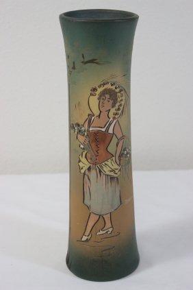 """Weller Dickens Ware Vase """"flower Girl"""""""