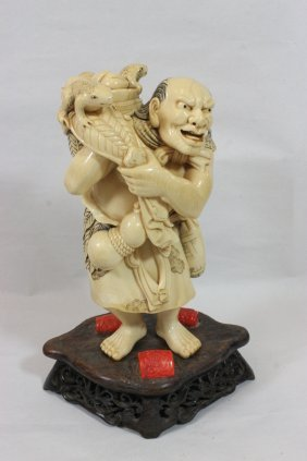 Japanese 18th/19th C. Solid Ivory Carving