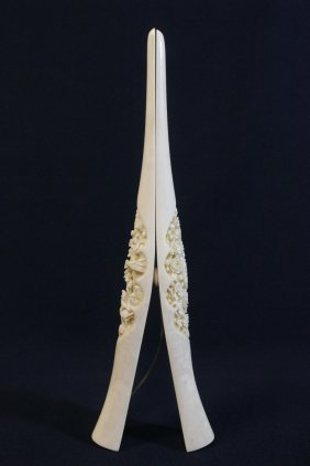 Chinese 19th Century Ivory Carved Stretcher
