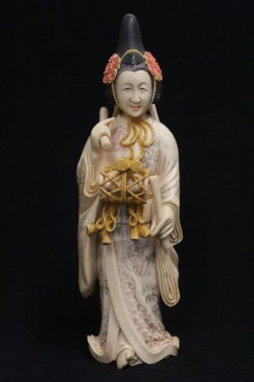 Japanese Antique Ivory Okimono
