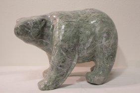 A Rare Large Jadeite Carved Bear