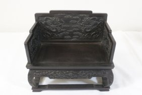 Chinese Possible Zitan Wood Miniature Bench