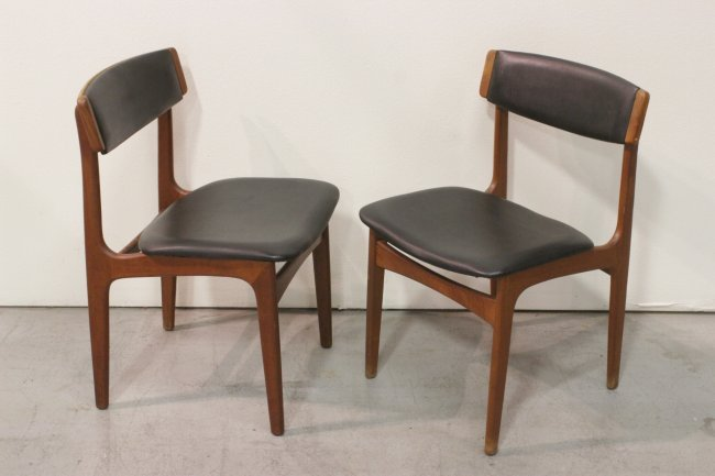 7pc mid century teak wood dining room set lot 134