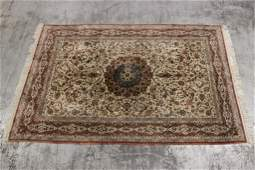 A large vintage Persian rug