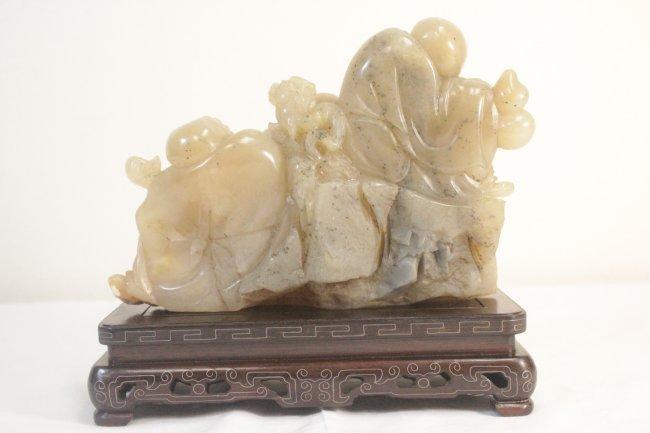 Chinese shoushan stone carving lot