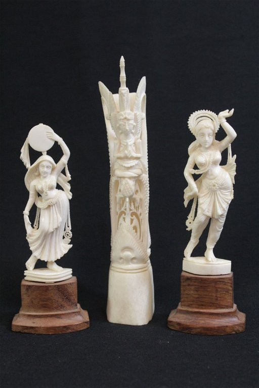 2 India Ivory Carvings An India Bone Carving Apr 04 2016 International Auction Gallery In Ca