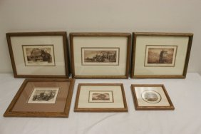 6 Pencil Signed Etchings By Scott Fitzgerald